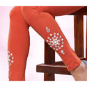 Orange And White Designer Leggings