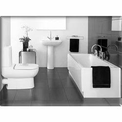 Graffiti White Bathroom Sanitary Ware Set