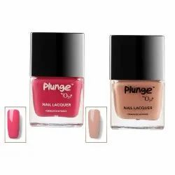 O3  Plunge Front Row and Vintage Nail Paint Polish Lacquer Color Shade Combo Pack (Red and Cream)