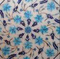 Intricate Design Marble Inlay Dining Table Top