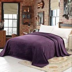 SWHF Plain Double Fleece Blankets, Size: 220x250cm