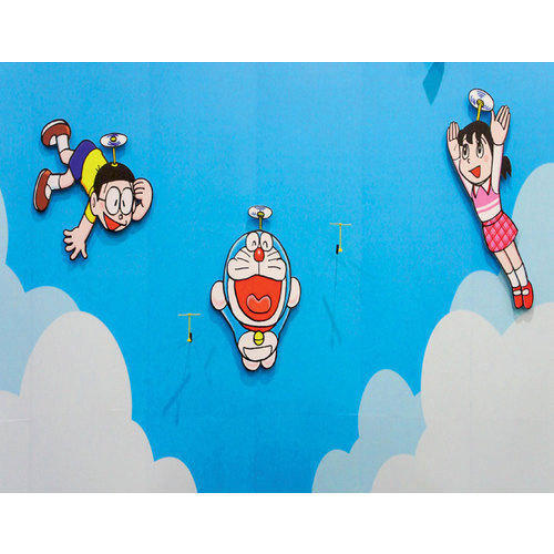 Pvc Modern Doraemon 3d Wallpaper Rs 155 Square Feet Balaji