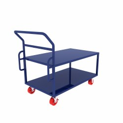 Material Handling Double Platform Trolley