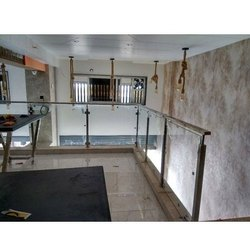 Balcony Railing with glass