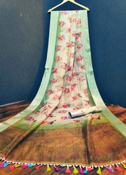 Printed Silk Organza Saree