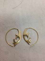 Brass Tree Earring