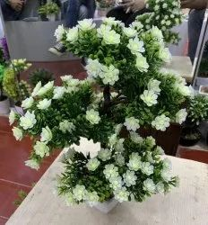 Asaorted Artificial Plastic Bonsai Flower Plant, For Decoration, Size: 10