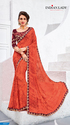 Orange Color Georgette Sari