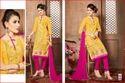 Yellow Design Salwar Suit
