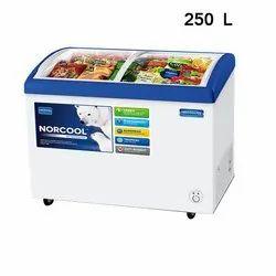 Norcool FC2G 250 Curved Glass Door Freezers