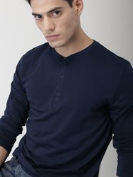 Cotton Plain Men's Blue T Shirt, Size: S to XXL, Packaging Type: Packet