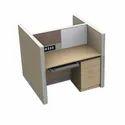 Modular Workstation I Modular Furniture Workstation Back to Back, Two Seating (MRK Furniture)