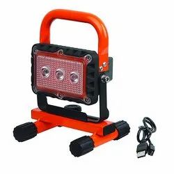 Groz 60 Degree C LED 9W Rechargeable Site Lamp with Magnetic Base, IP Rating: IP67, Voltage: 9v Dc - 32v Dc