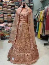 Unstitched Wedding Wear Embroidery Lehenga