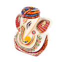 Marble Ganesha with Turban