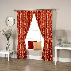 Dotted Rust Curtain