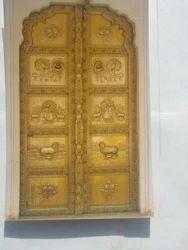 Brown Brass Temple Door