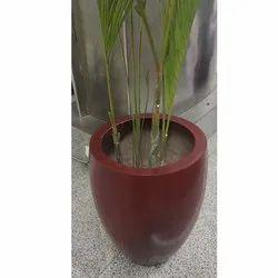 FRP Red Planter Pot