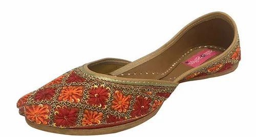 77e86012b8d7 Step n Style Women Gota Patti Work Flat Shoes Indian Designer Sandals Juti