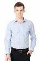 Blue Plain Cotton Peter England Shirt