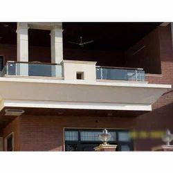 Iron Glass Balcony Railing