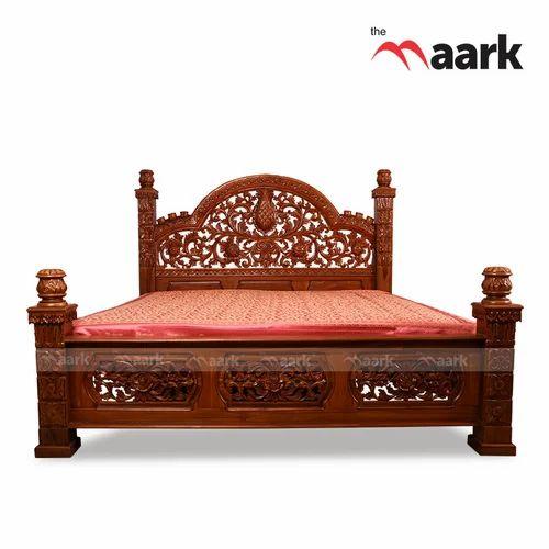 The Maark King Size Wooden Teak Cot