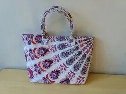 Multicolor Printed Beautiful Handbag Mandala Cotton Bags, Size/Dimension: Medium