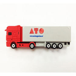 Cargo Car Shaped Silicon Flash Drive