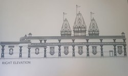 Fiberglass FRP Decoration Temple Designing And Decorations