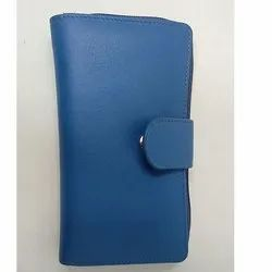 Blue Leather Ladies Wallet