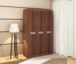 Three Door Plywood Wardrobe