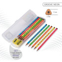 Doms Neon Groove Slim Triangle Pencils