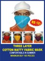 Three Layer Cotton Matty Fabric Mask