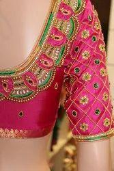 Designer  Pink Bridal Blouse