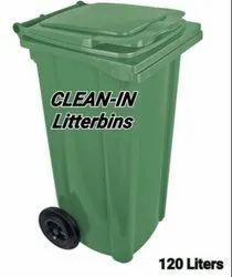 CLEAN-IN 120 Liters HDPE Litter-Bins 100% Virgin HDPE.