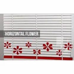 Horizontal Flower Wooden Blinds