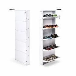 Parasnath White Colour Wall Shoe Den with 5 Shelves