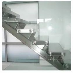 Silver Stainless Steel Staircase, Material Grade: SS304