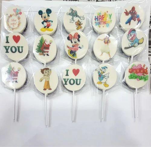 Edible Printed Cartoon Lollipops