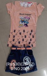 Girls Designer Shorts With Top