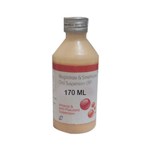 Magaldrate and Simethicone Oral Suspension USP, 170 mL, Packaging Type: PET  Bottle, Rs 76.8 /piece | ID: 19318682473