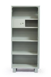 75  Stainless Steel Office Type Half Locker Almirah, No. Of Shelves: 3 Shelves, Warranty: 5 Year