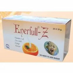 Enerfull-Z Vitamin C And Zinc with Orange Flavour, Packaging Type: Box, Pack Size: 25 X 35 G