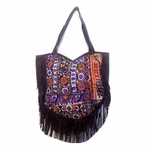 Las Embroidered Ethnic Handbag