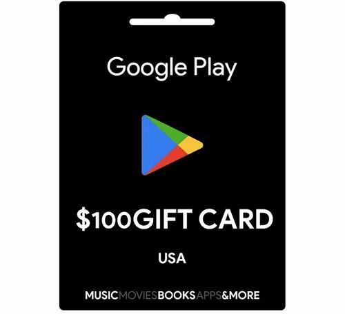 Google Play Usa 100 Dollar Gift Card