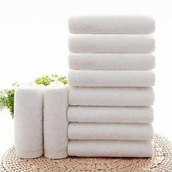 Cotton Plain White Face Towel, Size: 12 X 12 inch