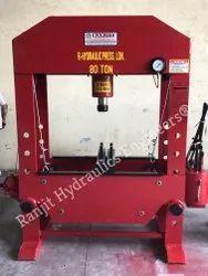 Hand Operating Hydraulic Machine 80 Ton