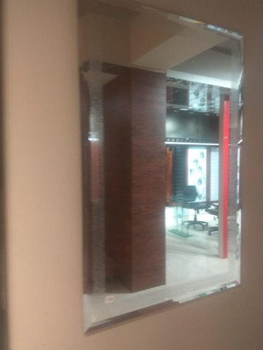 Rectangle Beveled Wall Mirror At Rs 150 Square Feet द व र पर लग दर पण Ganpati Glass Decor And Hardware Meerut Id 20533796755