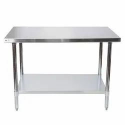 Ss Also Available In Ms Silver Rectangular Stainless Steel Table