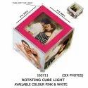 Glass Multicolor Gift Potli Personalized Rotating Photo Cube, Size: Big